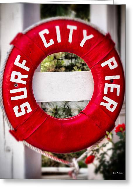 Welcome To Surf City Greeting Card by John Pagliuca