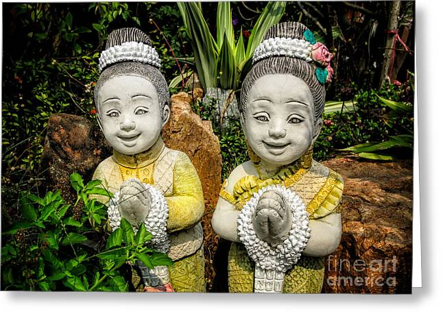 Welcome To Thailand Greeting Card by Adrian Evans