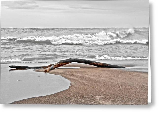 Welcome To The Beach Greeting Card by Frozen in Time Fine Art Photography