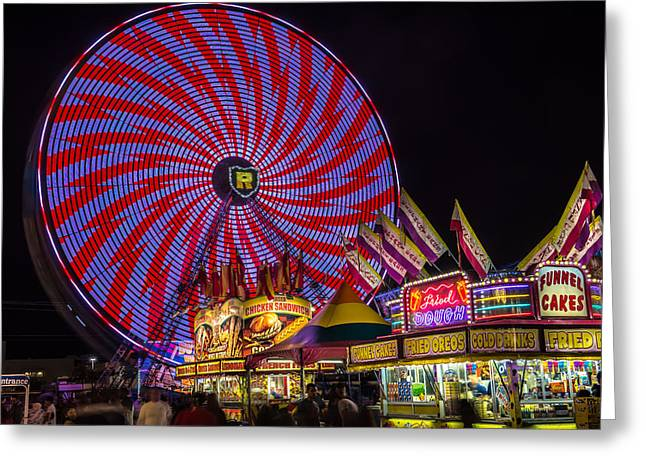 Welcome To The Fair. Greeting Card by William  Carson Jr