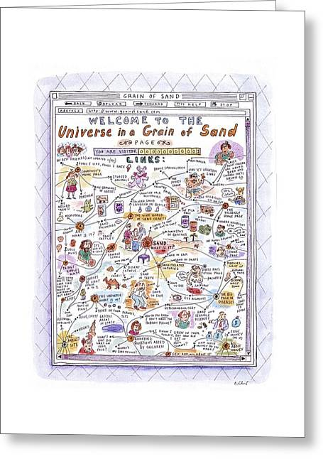 'welcome To The Universe In A Grain Of Sand' Greeting Card