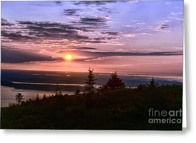 Welcoming A New Day Greeting Card by Arnie Goldstein
