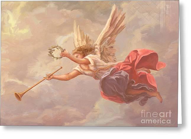 Welcoming Angel Greeting Card by John Alan  Warford
