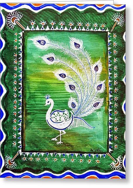 Welcoming Rain Greeting Card by Anjali Vaidya