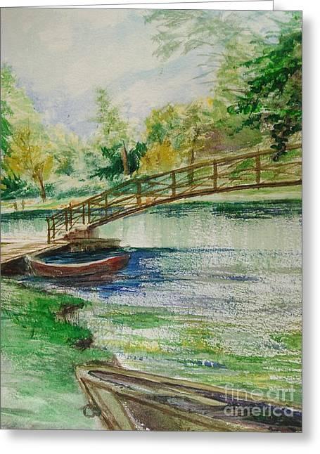 Weldon Springs Footbridge Greeting Card