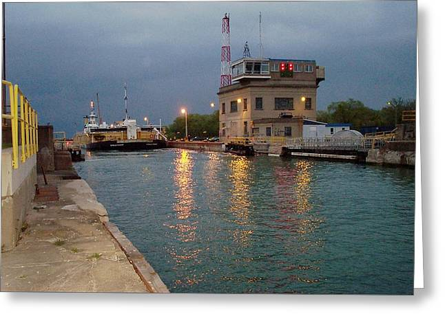 Greeting Card featuring the photograph Welland Canal Locks by Barbara McDevitt