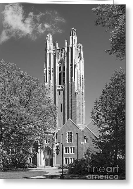 Wellesley College Green Hall Greeting Card by University Icons