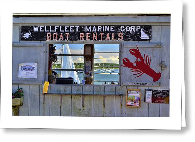Wellfleet Harbor Thru The Window Greeting Card by Allen Beatty