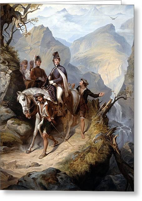 Wellington At Sorauren, 27th July 1813 Greeting Card by Thomas Jones Barker