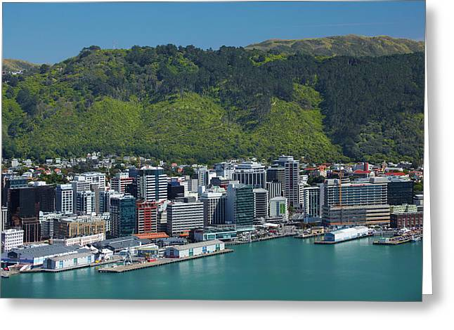 Wellington Cbd, Waterfront, And Te Greeting Card