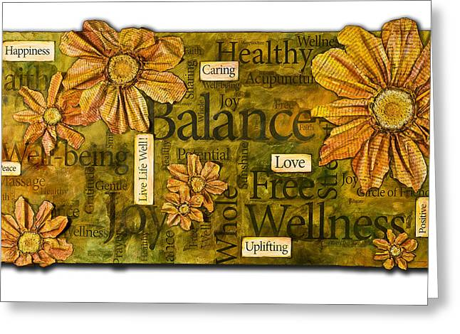 Greeting Card featuring the painting Wellness by Lisa Fiedler Jaworski