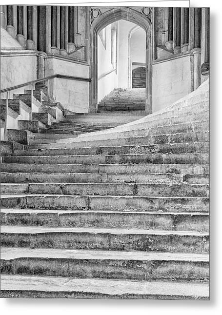 Wells Cathedral Chapter House Stairs Greeting Card