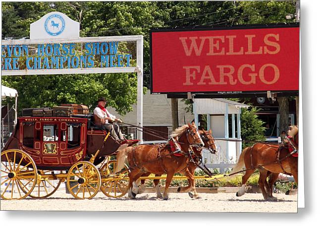 Greeting Card featuring the photograph Wells Fargo At Devon by Alice Gipson