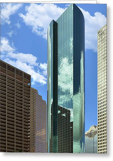 Wells Fargo Plaza Houston Tx Greeting Card