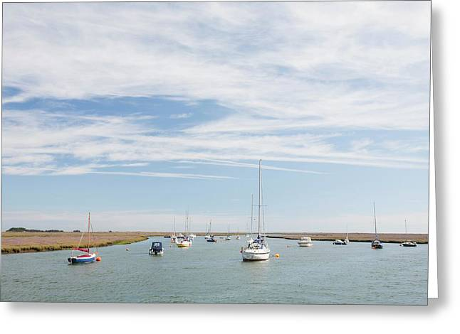 Wells-next-the-sea In North Norfolk Greeting Card by Ashley Cooper