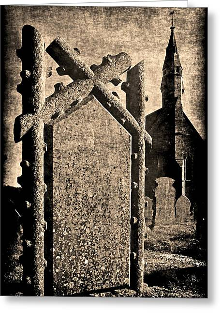 Welsh Graveyard Greeting Card