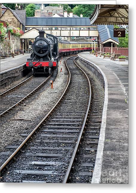 Welsh Railway Greeting Card by Adrian Evans