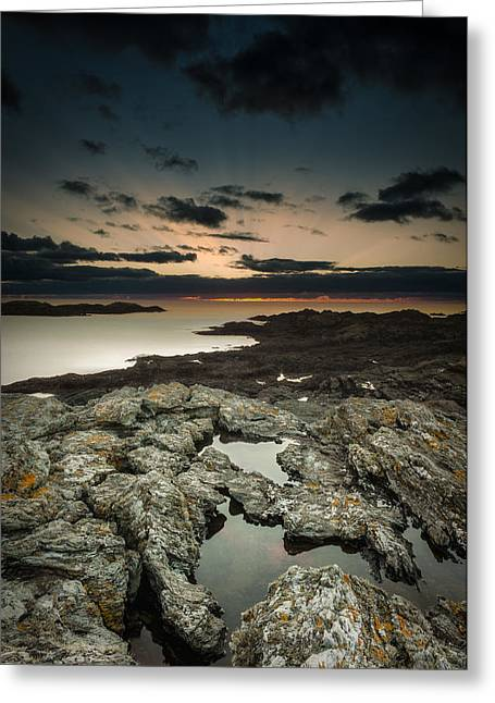 Welsh Seascape Greeting Card by Andy Astbury