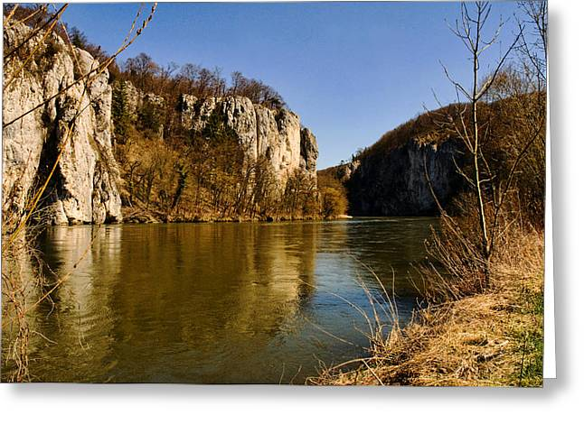 Weltenburg Narrows Greeting Card by Robert Culver