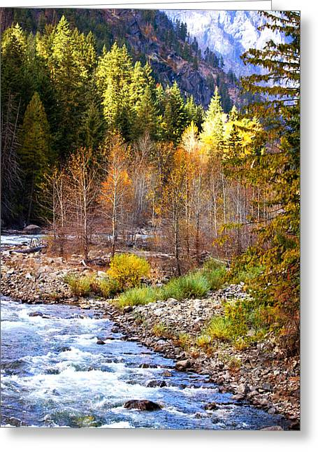 Wenatchee River - Leavenworth - Washington Greeting Card