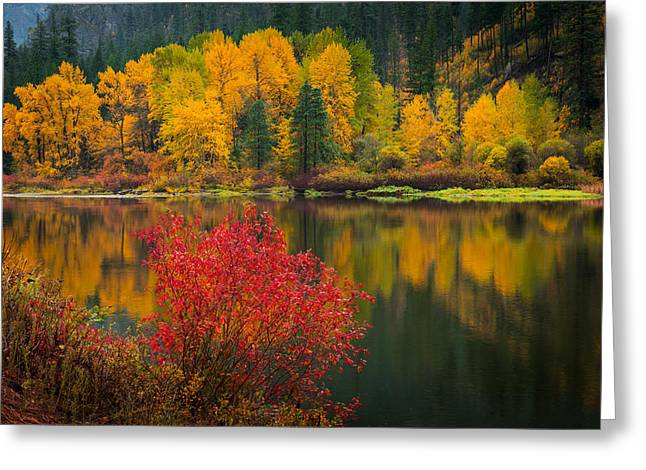 Wenatchee River Reflections Greeting Card