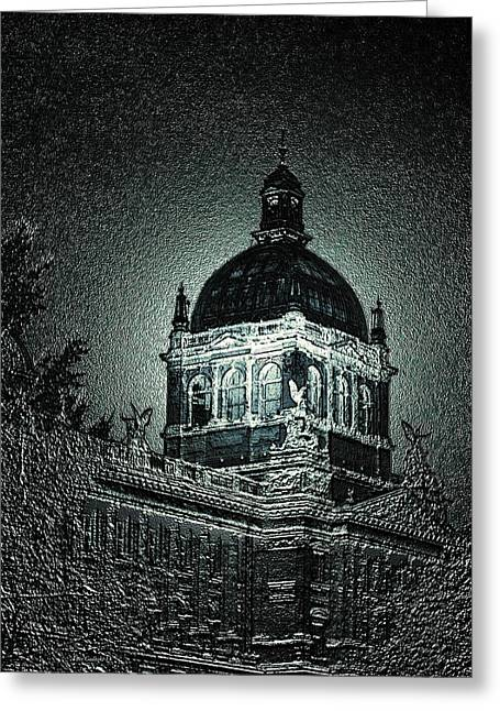 Wenceslas Square Greeting Card