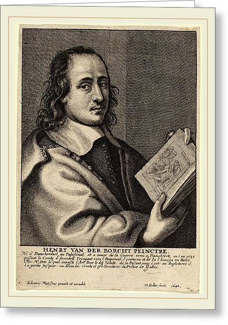 Wenceslaus Hollar After Joannes Meyssens Bohemian Greeting Card by Litz Collection