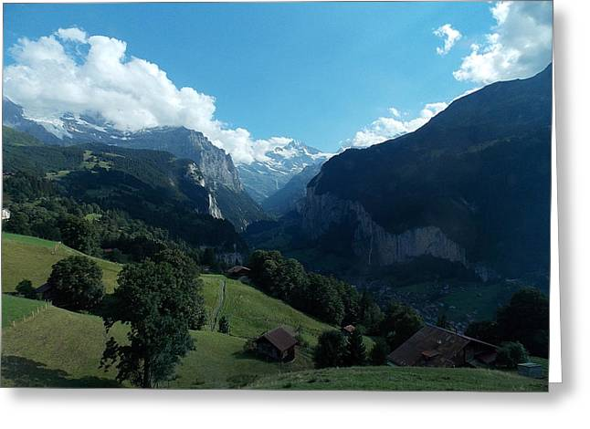 Wengen View Of The Alps Greeting Card by Nina Kindred