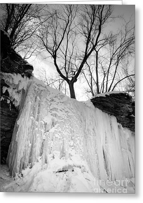 Greeting Card featuring the photograph Wequiock Walls Of Ice by Mark David Zahn