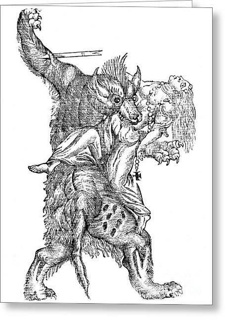 Werewolf, Legendary Creature Greeting Card by Photo Researchers