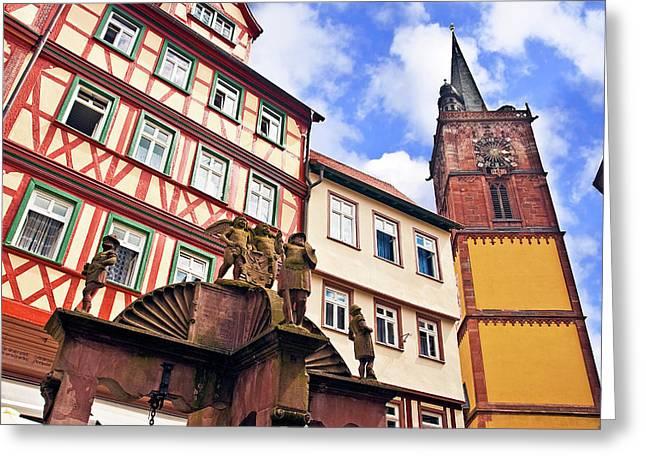 Wertheim, Franconia, Germany Greeting Card by Miva Stock