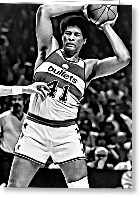 Wes Unseld Greeting Card by Florian Rodarte