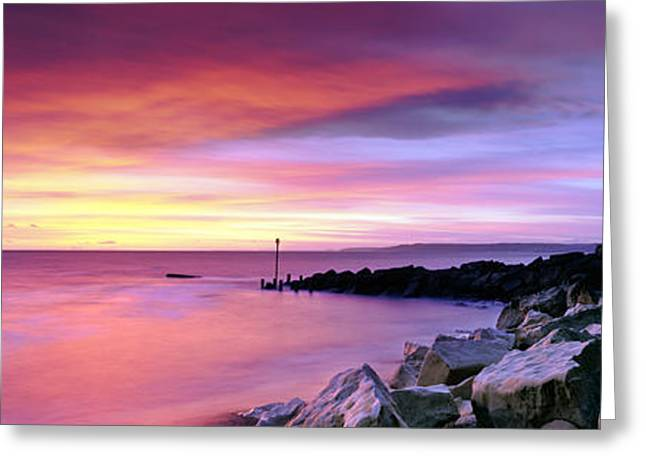 West Bay Greeting Card by Rod McLean