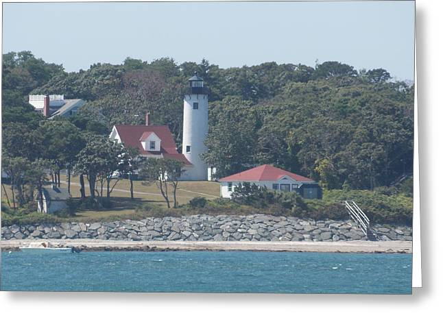 West Chop Lighthouse Greeting Card by Catherine Gagne