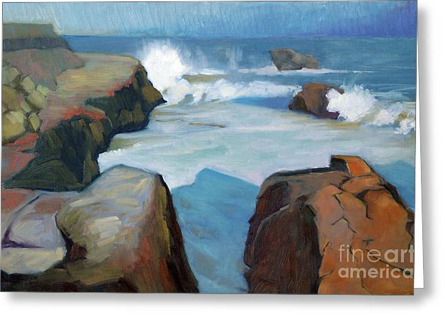 West Cliff Crash Greeting Card