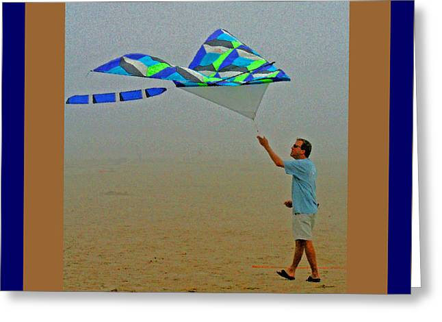 West Coast Beach Kites Greeting Card by Joseph Coulombe