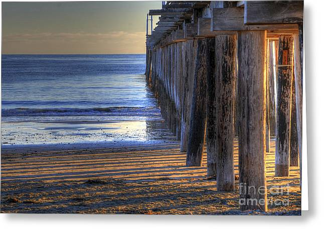 West Coast Cayucos Pier Greeting Card