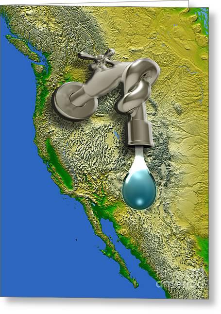 West Coast Drought, Usa Greeting Card