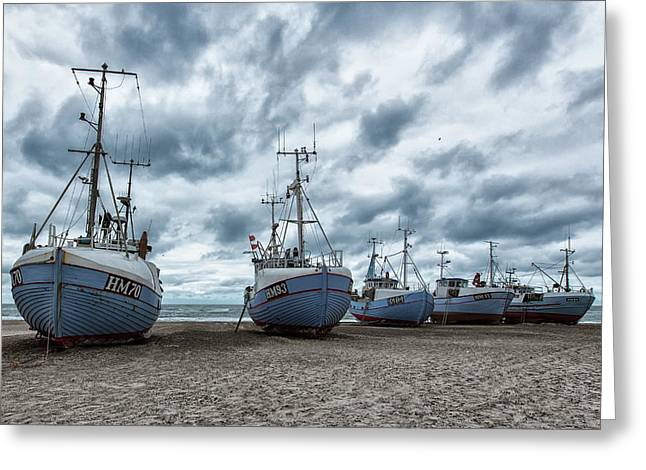 West Coast Fishing Boats. Greeting Card