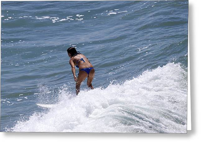 West Coast Surfer Girl Greeting Card by Duncan Selby
