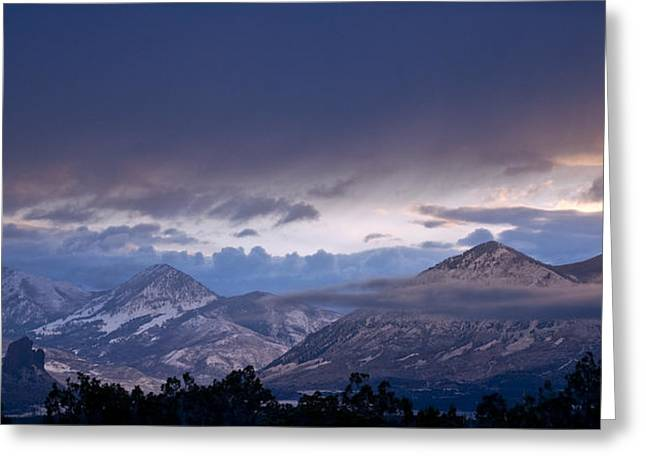 Greeting Card featuring the photograph West Elk Mountains First Light by Eric Rundle