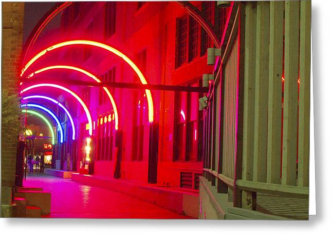 West End Archway In Dallas Greeting Card by ARTography by Pamela Smale Williams