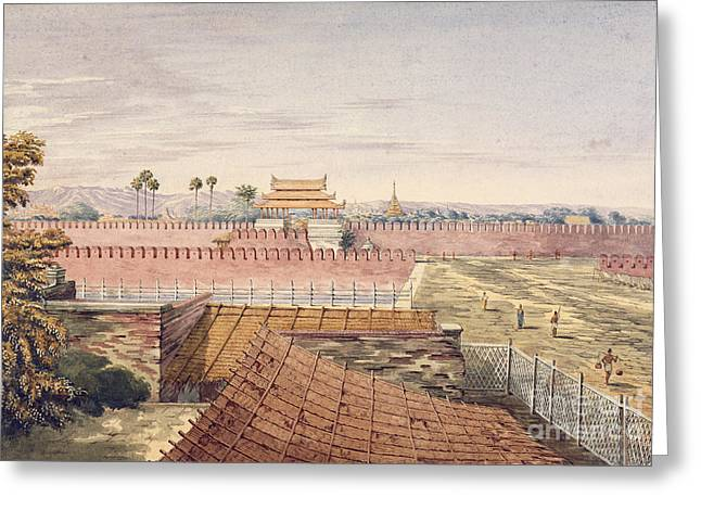 West Gate & Part Of City Wall Greeting Card by British Library
