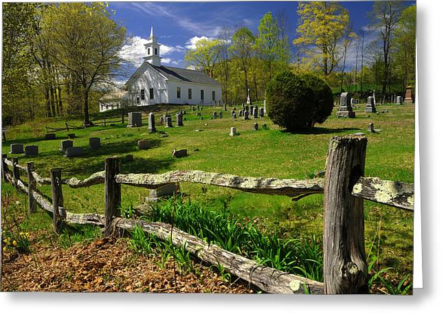 Greeting Card featuring the photograph West Guilford Church by Paul Miller