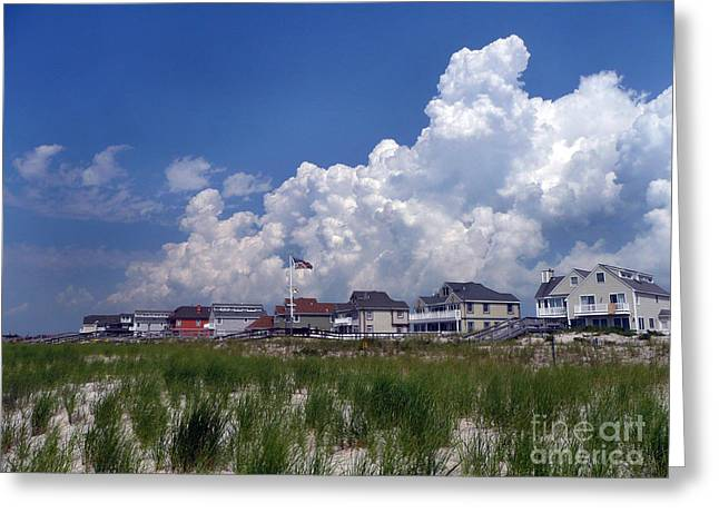 Greeting Card featuring the digital art West Hampton by Steven Spak