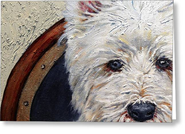 West Highland Terrier Dog Portrait Greeting Card