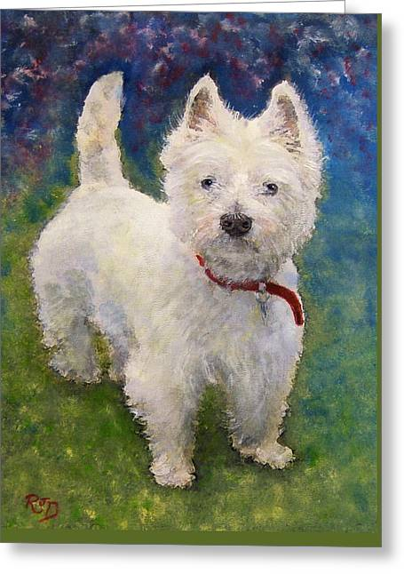 West Highland Terrier Holly Greeting Card