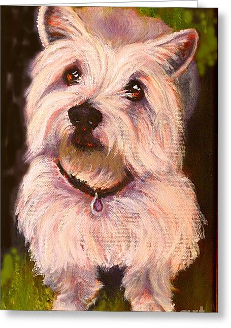 West Highland Terrier Reporting For Duty Greeting Card