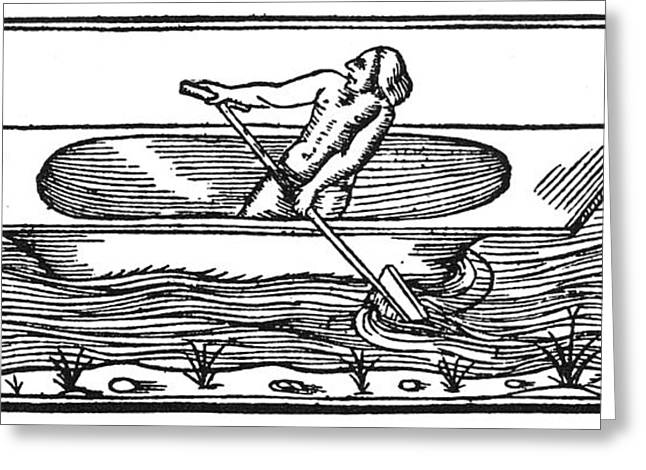 West Indian Canoe, 1547 Greeting Card by Granger