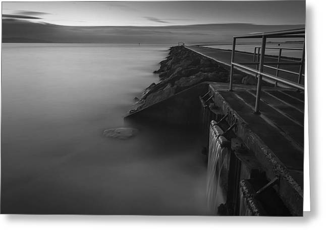West Kirby Long Exposure Greeting Card by Paul Madden